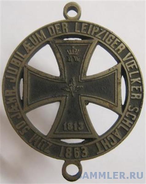 Preussische Medaille Zum 50. jaehrlichen Jubilaeum der Leipziger Voelkerschlacht_av..jpg