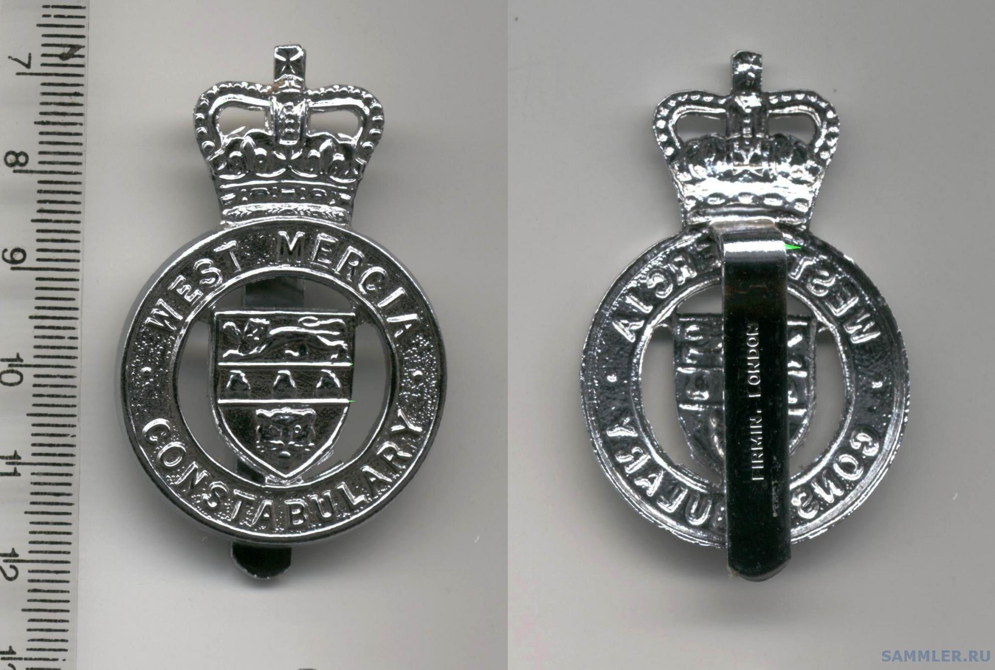 The West Mercia Police cap badge EII.jpg