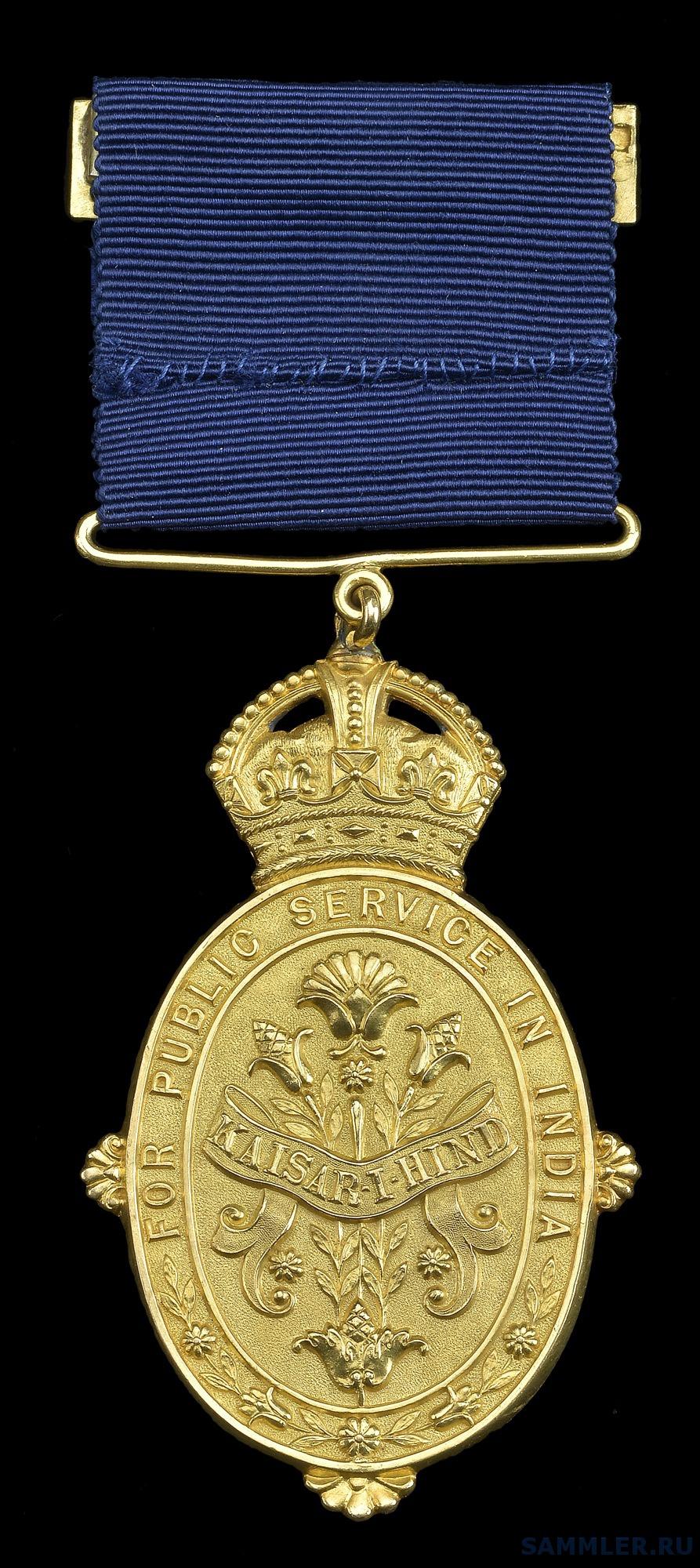 Kaisar-I-Hind, G.V.R., 1st class, 1st type, gold rev.jpg