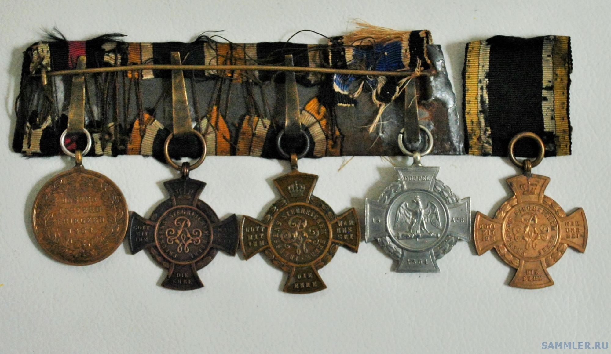 колодка пам. медалей Einigungskriege.JPG