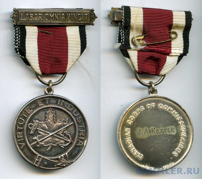 Commissionaires LS Medal (#C44) to J.A.KETTLE.jpg