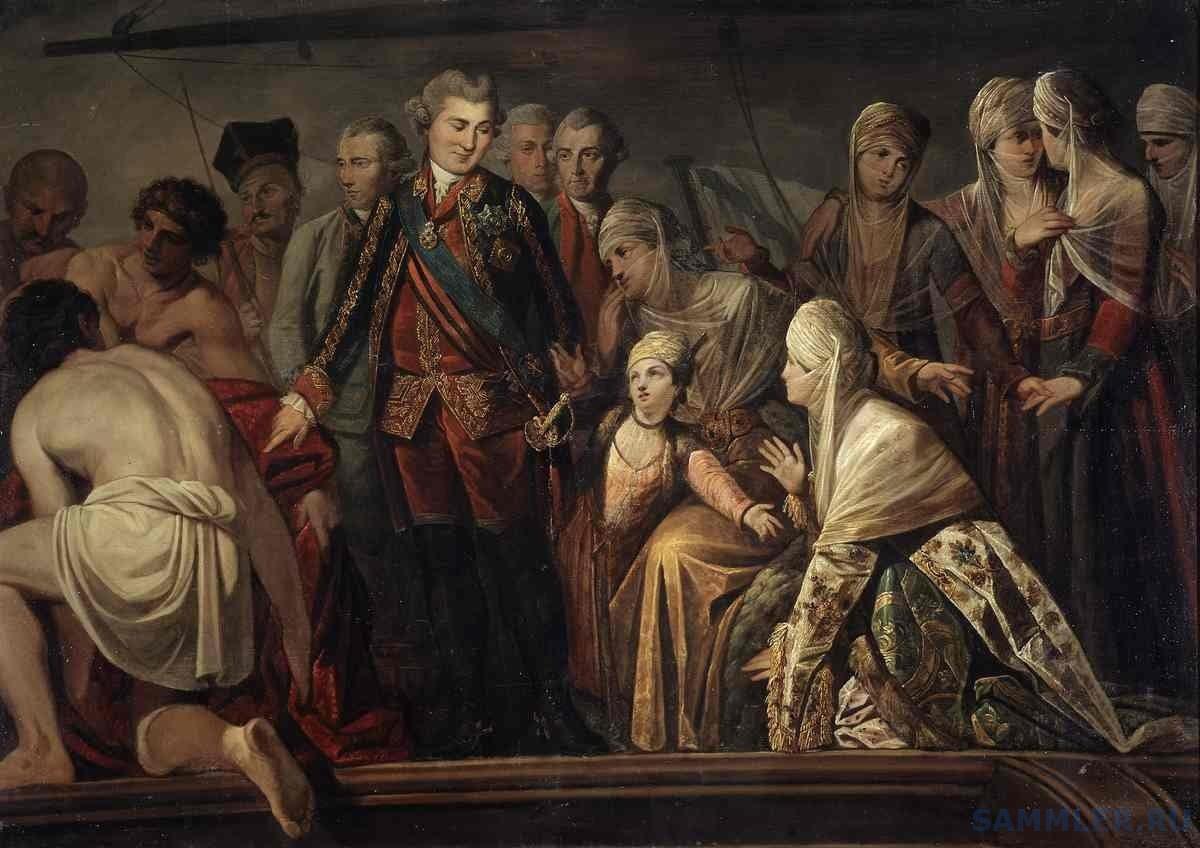 Граф Алексей Григорьевич Орлов после Чесменского боя.jpg