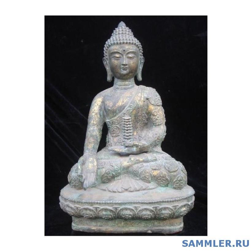 20old_tibetan_bronze_gilt_buddha_shakyamuni_towers_statue_zmsx4553.jpg